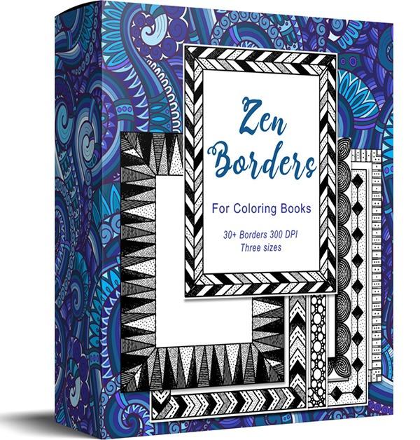 zen borders coloring