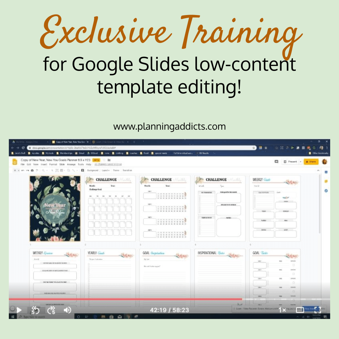 google slides low content template editing training
