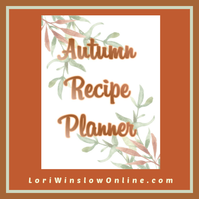 autumn recipe planner plr