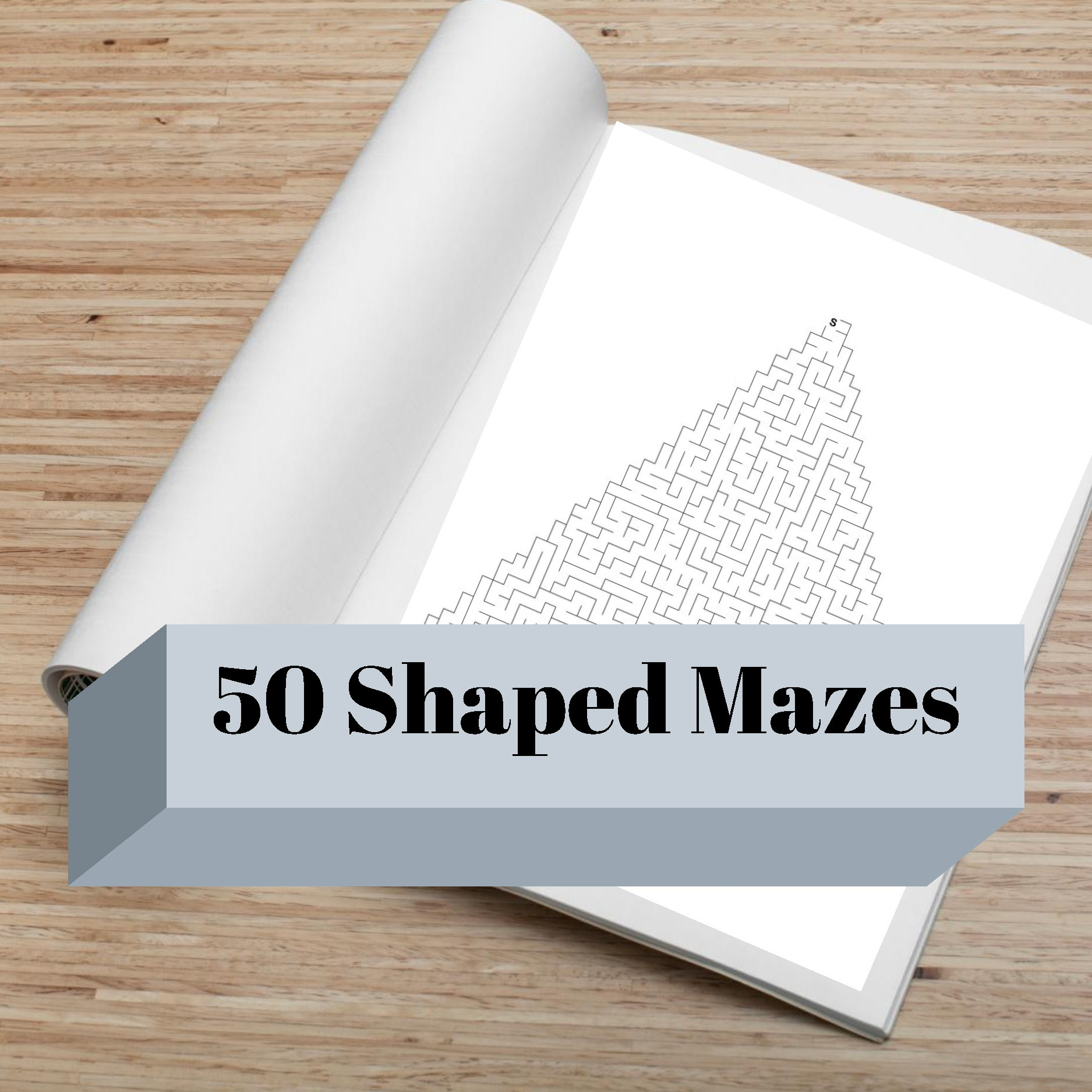 50 shaped mazes