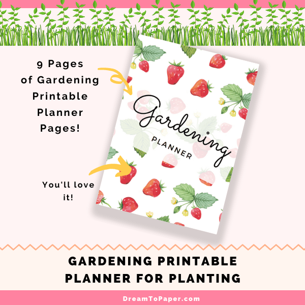 Adorable Garden Printable Planner For Planting plr