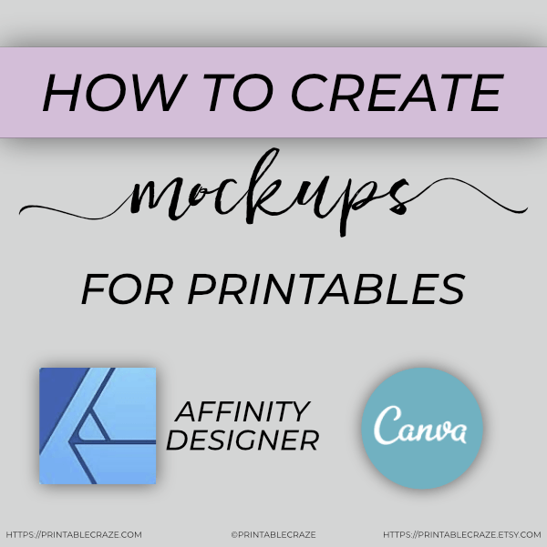 How to Create Mockups for Printables training