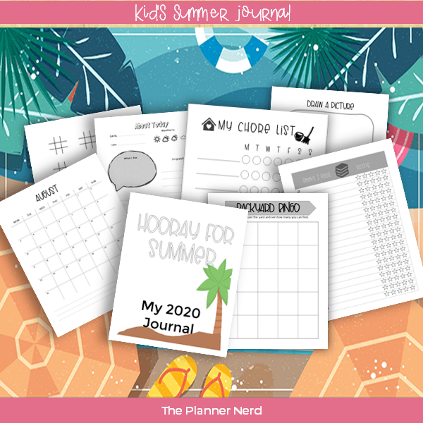 kids summer journal plr