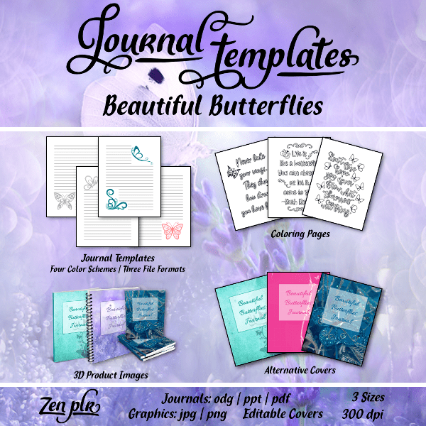 butterfly journal plr