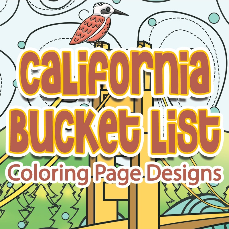california bucket list coloring pages plr