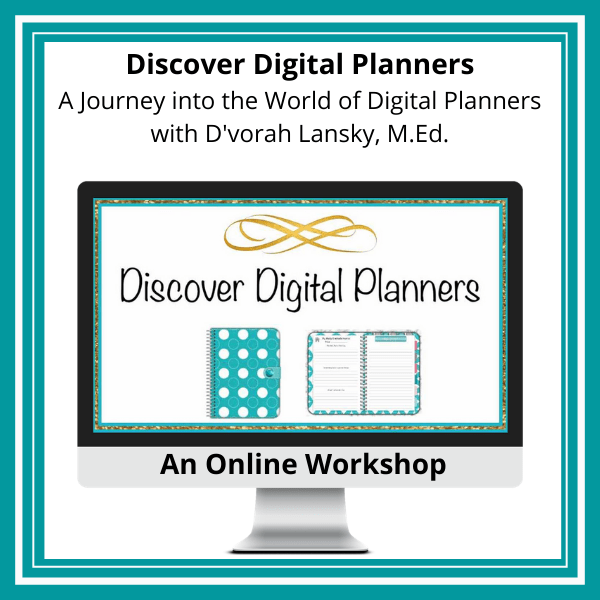 discover digital planners workshop