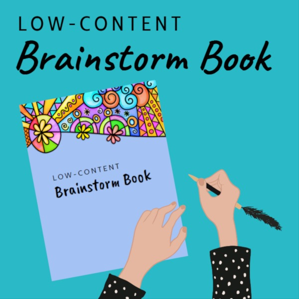 low content brainstorm book training