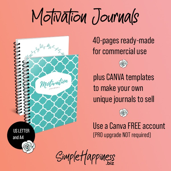 Motivation Journals and Journal Templates plr