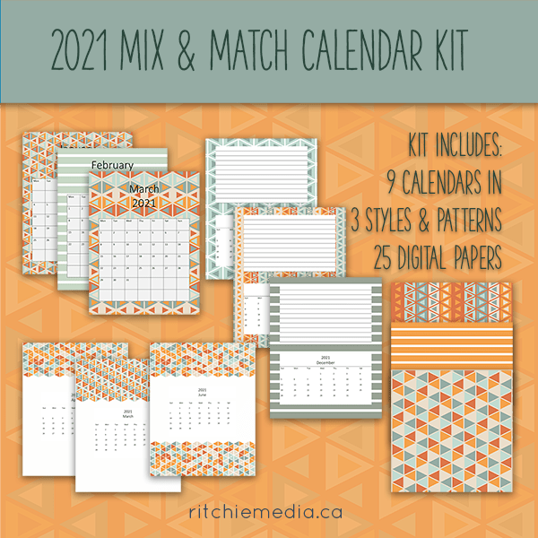 mix & match calendar kit