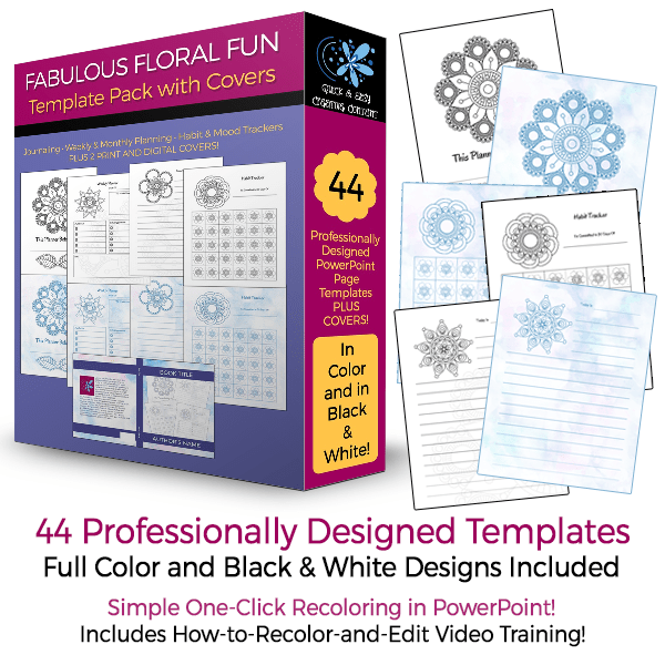 The Fabulous Floral Fun Template Pack with Covers plr