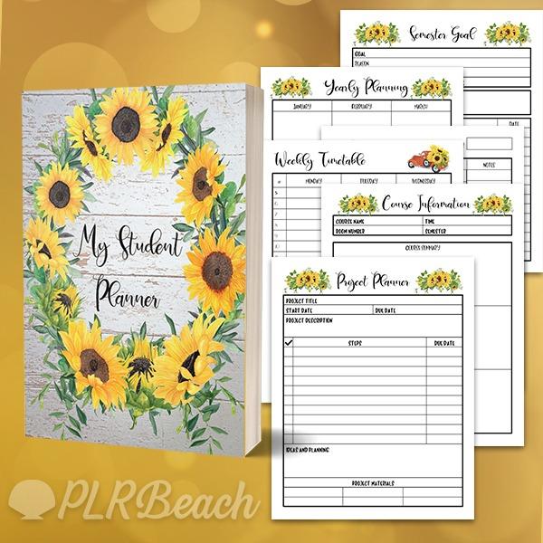 Sunflower Student Planner plr