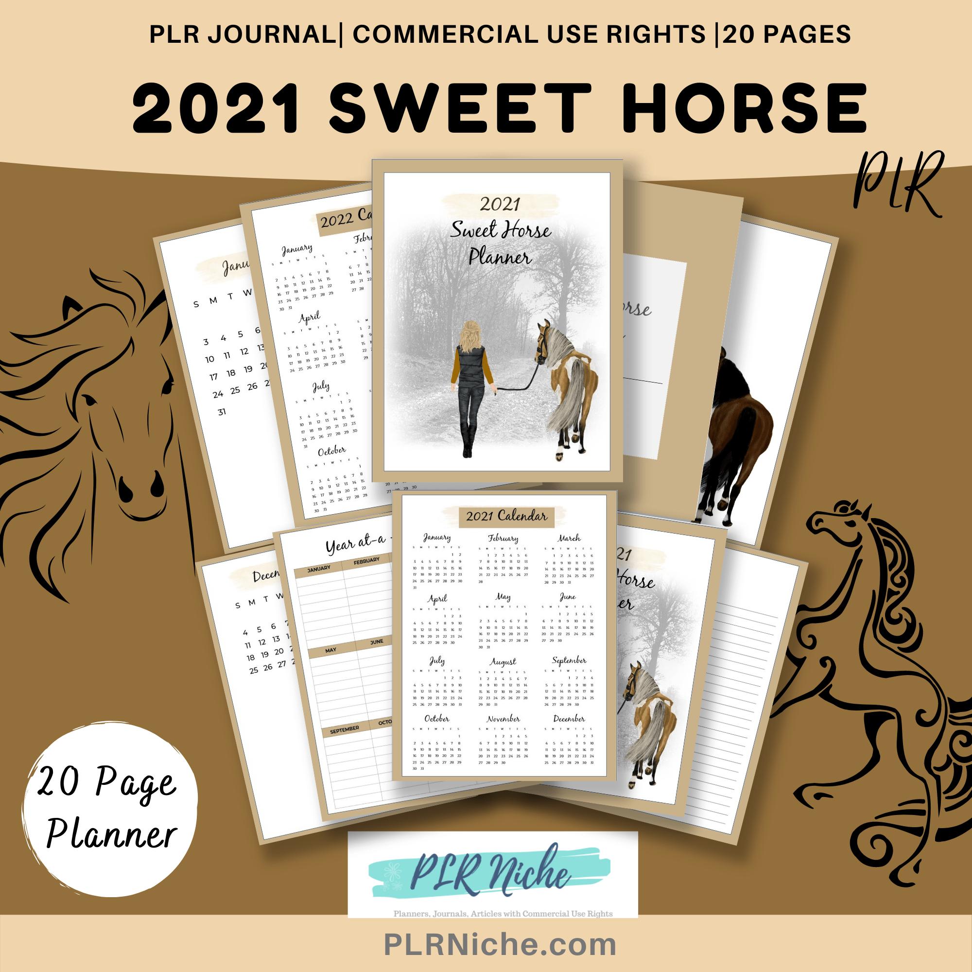 2021 Sweet Horse Planner