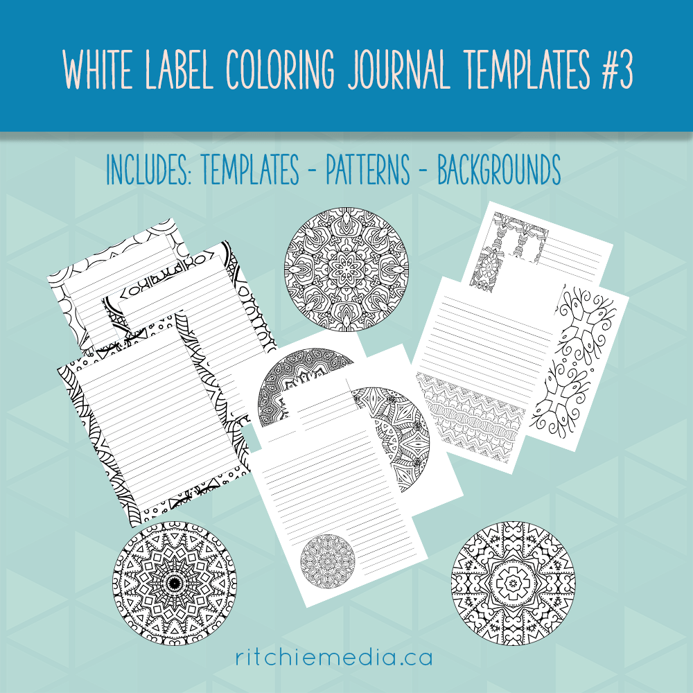 white label coloring journals promo