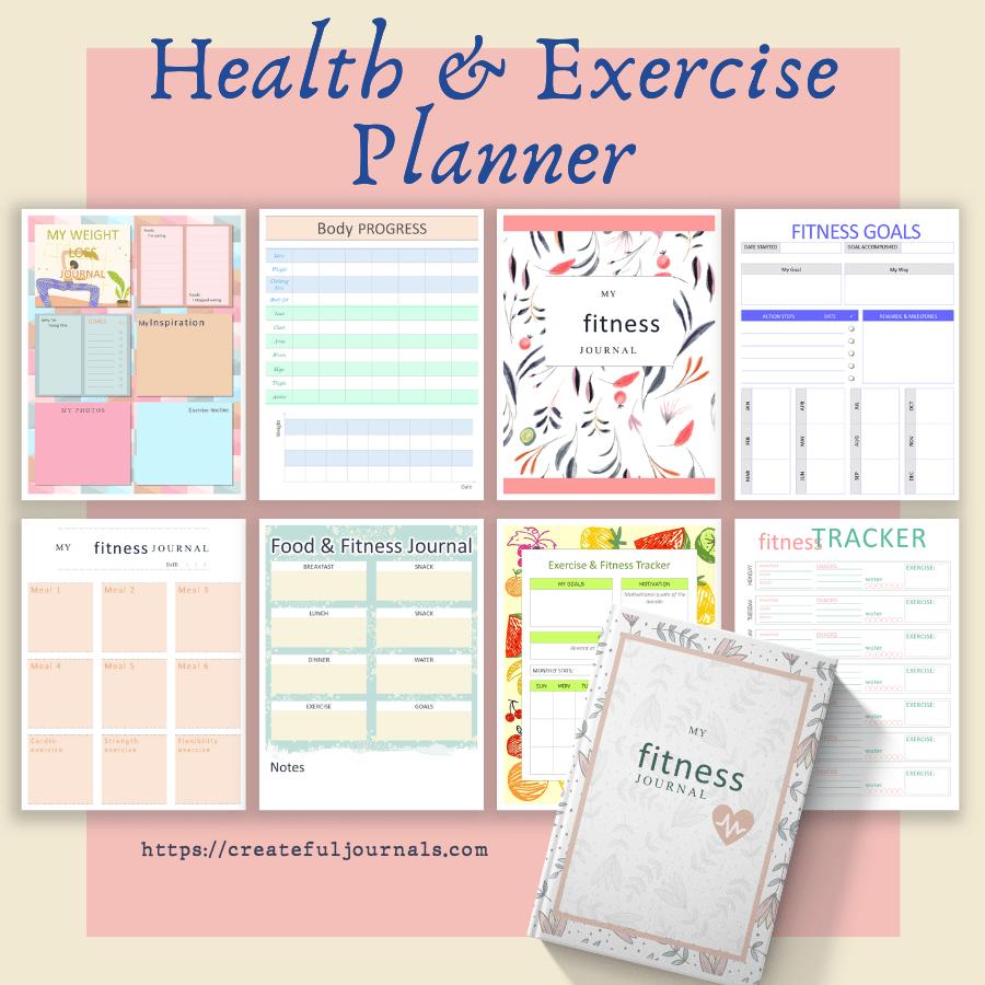 health exercise planner mockup