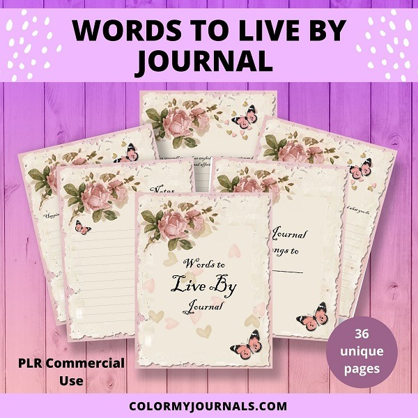 donna words to live by journal