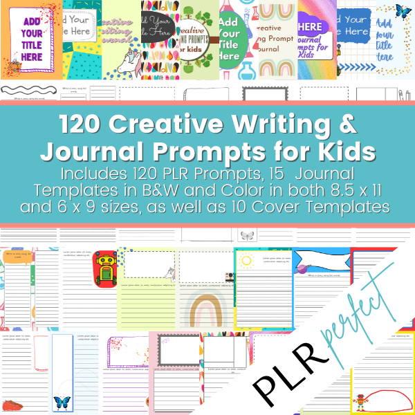 Creative Writing & Journal Prompts for KIds 600 x 600