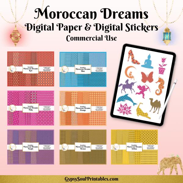 Moroccan Dream Digital Papers
