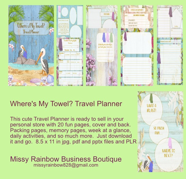Wheres My Towel Travel Planner